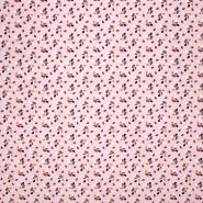 Pamuk, popelin, kapljice, 21227-1, ružičasta