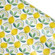 PVC für Tischdecken, Früchte, 21306-1, weiß