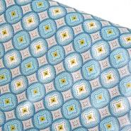 PVC für Tischdecken, Ornament, 21307-2, türkis