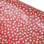 PVC für Tischdecken, Natur, 21309-1, rot