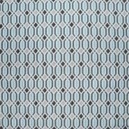 Dekostoff, Jacquard, geometrisch, 21312-42, türkis