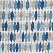 Dekostoff, Druck, geometrisch, 21318-3, blau - Bema Stoffe