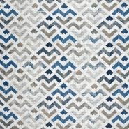 Dekostoff, Druck, geometrisch, 21319-3, blau - Bema Stoffe