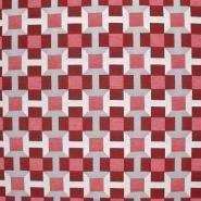 Deko žakard, geometrijski, 21311-22, crvena
