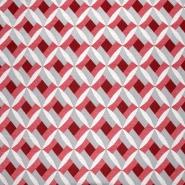 Dekostoff, Jacquard, geometrisch, 21313-22, rot