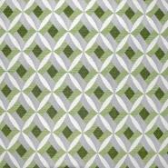 Dekostoff, Jacquard, geometrisch, 21313-37, grün