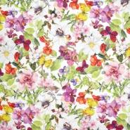 Dekostoff, Druck, imprägniert, floral, 21345-166