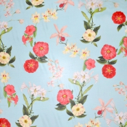 Svila, šifon, cvetlični, 21358-1