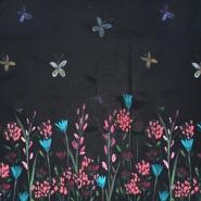 Gewebe, Viskose, floral, 21353-2