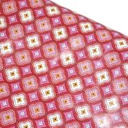 PVC für Tischdecken, Ornament, 21307-1, rot