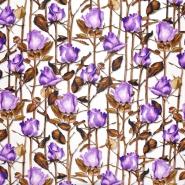 Seide, Druck, floral, 21372-6