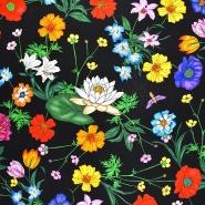 Seide, Druck, floral, 21373-4