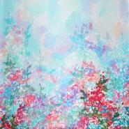 Seide, Satin, floral, 21373-7
