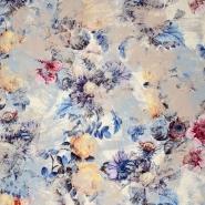 Seide, Druck, floral, 21373-8