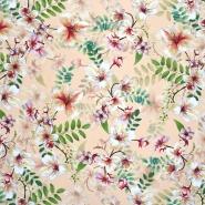 Seide, Druck, floral, 21373-9