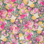 Seide, Druck, floral, 21373-11