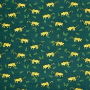 Jersey, Baumwolle, Tiere, 21401-128, grün