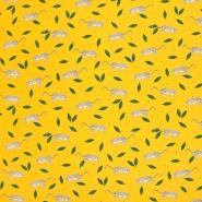 Jersey, Baumwolle, Tiere, 21401-133, gelb
