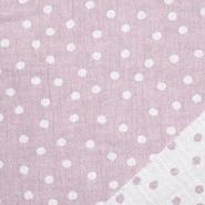 Musselin, beidseitig, Punkte, 21404-014, rosa