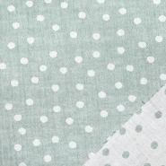 Tetra tkanina, obostrana, točke, 21404-023, mint