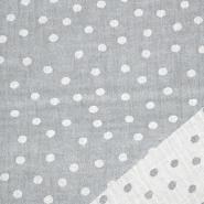 Tetra tkanina, obostrana, točke, 21404-068, siva