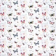 Sweatshirtstoff, Digitaldruck, 21414-004, weiß