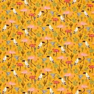 Sweatshirtstoff, 21422-002, ocker