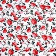 Gewebe, dünn, floral, 21425-001