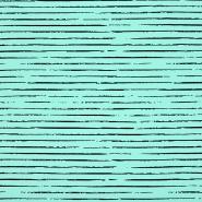 Jersey, Baumwolle, Streifen, 21432-30, mintblau