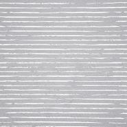 Jersey, Baumwolle, Streifen, 21432-40, grau