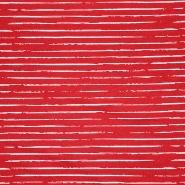 Jersey, Baumwolle, Streifen, 21432-41, rot