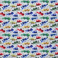 Jersey, Baumwolle, für Kinder, 21436-7, grau