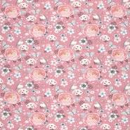 Jersey, pamuk, digital, romantički, 21441-14, ružičasta
