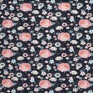 Jersey, Baumwolle, Digitaldruck, romantisch, 21442-18, dunkelblau