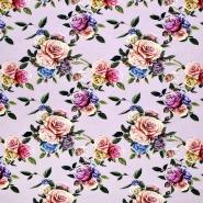 Jersey, Baumwolle, floral, 21445-4