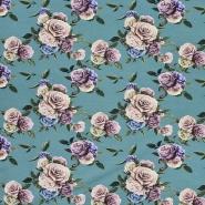 Jersey, Baumwolle, floral, 21445-10