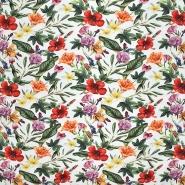 Jersey, Baumwolle, floral, 21447-1