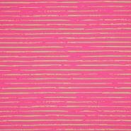 Jersey, Baumwolle, Streifen, 21432-10, rosa