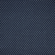 Gewebe, Viskose, Punkte, 20534-008, dunkelblau - Bema Stoffe