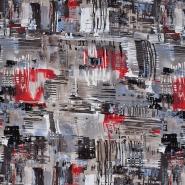 Jersey, Viskose, abstrakt, 20540-054, beige