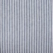 Leinen, Viskose, 20555-008, blau-weiß