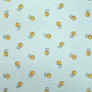 Tetra tkanina, dvojna, otroški, 21455-021, mint