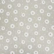 Tetra tkanina, dvostruka, cvjetni, 21457-052, smeđa