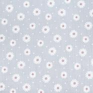 Tetra tkanina, dvostruka, cvjetni, 21457-061, siva