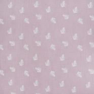 Musselin, doppelt, Federn, 21458-012, rosa