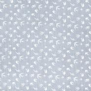 Tetra tkanina, dvojna, živalski, 21459-061, siva