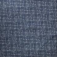 Gewebe, Viskose, Leinen, Punkte, 21460-008, dunkelblau - Bema Stoffe