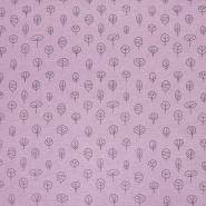 Dekostoff, Druck, Natur, 21471-013, rosa