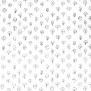 Dekostoff, Druck, Natur, 21471-051, weiß