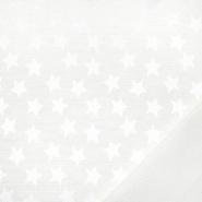 Damast, Sterne, 21472-051, creme - Bema Stoffe